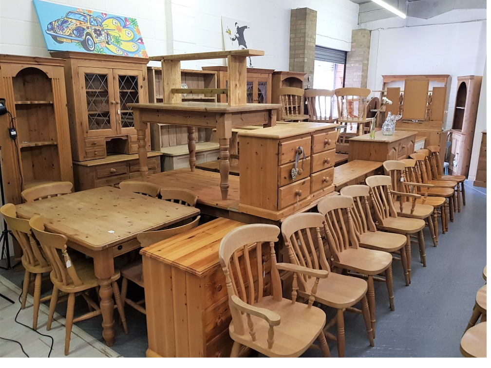 Over 200 items of quality used pine furniture